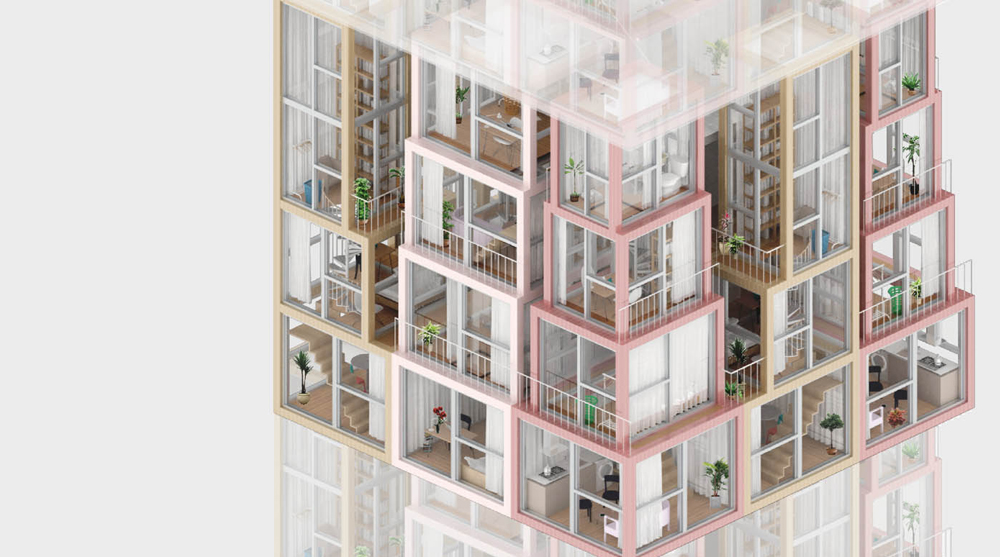 Architecture Competition Hong Kong Pixel Homes